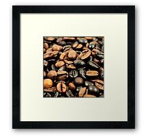 Coffee beans,coffee,beans,digital photo,modern,trendy,food hipster Framed Print