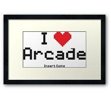 love arcade Framed Print