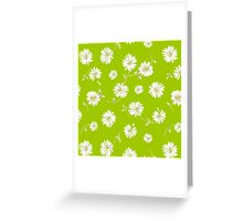 Spoon flower,flowers,floral,lime,white,green,yellow,modern,trendy,pattern Greeting Card