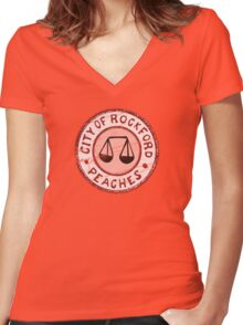 League of Their Own - Rockford Peaches Women's Fitted V-Neck T-Shirt