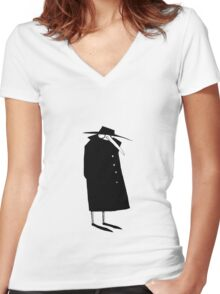 Suspicious Women's Fitted V-Neck T-Shirt