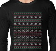 Skulls Christmas Sweater Long Sleeve T-Shirt