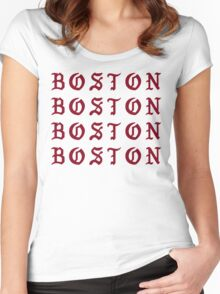 I FEEL LIKE BOSTON Women's Fitted Scoop T-Shirt
