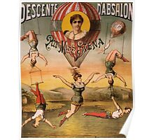 Posters 1880s Descente d'Absalon par Miss Stena circus poster ca 1890 USSR Poster