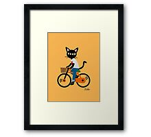Summer cycling Framed Print