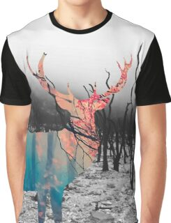 autumnal forest deer Graphic T-Shirt