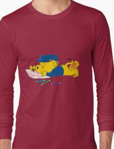 Ferald Drawing By The Waterfall Long Sleeve T-Shirt