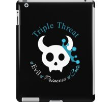 Evil But Cute Little Demon Triple Threat - Aqua iPad Case/Skin