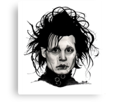 Tribute to Edward Scissorhands *RE-EDITED Canvas Print