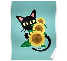Whim with Sunflower Poster