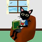 Reading a book by BATKEI