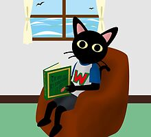 Reading a book by BATKEI