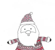 Knitted Santa Sticker