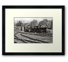 Coal Trucks Framed Print