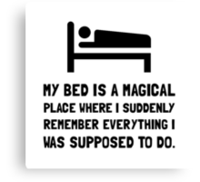 Bed Magical Place Canvas Print