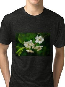White cherry blossoms Tri-blend T-Shirt
