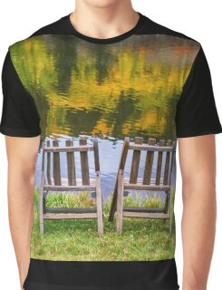 Autumn Season Romantic Lake View For Two Graphic T-Shirt
