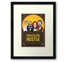 American Hustle Illustration Framed Print