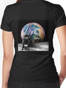 Homesick Women's Fitted V-Neck T-Shirt