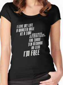 The Fast And The Furious - I Live My life Women's Fitted Scoop T-Shirt