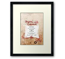 Pirates of the Caribbean- Fastpass Framed Print