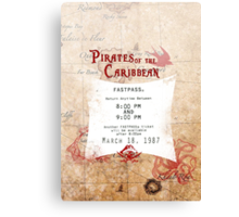 Pirates of the Caribbean- Fastpass Canvas Print