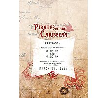 Pirates of the Caribbean- Fastpass Photographic Print