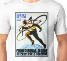 SWISS BICYCLE; Vintage Racing Advertising Print Unisex T-Shirt