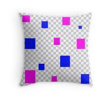 Funky squares Throw Pillow
