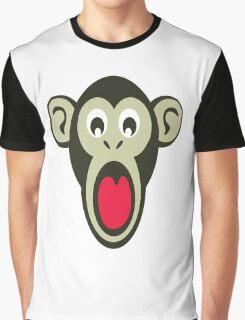 Shocking Monkey Cartoon  Graphic T-Shirt