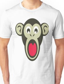 Shocking Monkey Cartoon  Unisex T-Shirt