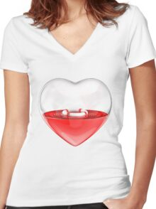 Rescue Me Women's Fitted V-Neck T-Shirt