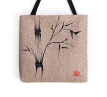 The Ladybug Sleeps - india ink brush pen bamboo drawing Tote Bag