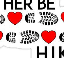 HIKING I'D RATHER BE HIKING BOOTS AND HEARTS HIKE HIKER MOUNTAINS ID GEOCACHING Sticker
