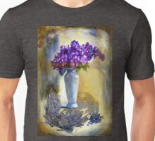 Lilac in a white vase. Unisex T-Shirt
