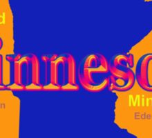 Colorful Minnesota State Pride Map Sticker