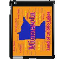 Colorful Minnesota State Pride Map iPad Case/Skin