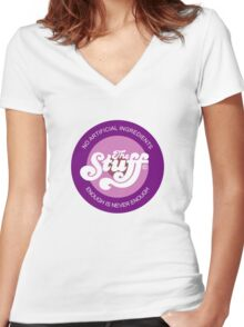 The Stuff Women's Fitted V-Neck T-Shirt