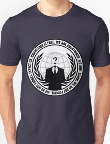 High Quality Anonymous Seal Tapestry and Sticker Unisex T-Shirt