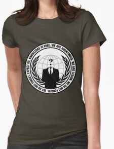 High Quality Anonymous Seal Tapestry and Sticker Womens Fitted T-Shirt