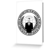 High Quality Anonymous Seal Tapestry and Sticker Greeting Card