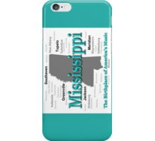 Mississippi State Pride Map Silhouette  iPhone Case/Skin