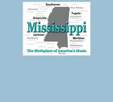 Mississippi State Pride Map Silhouette  Unisex T-Shirt