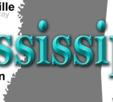 Mississippi State Pride Map Silhouette  Sticker