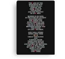 Pulp Fiction - Ezekiel 25:17 Canvas Print