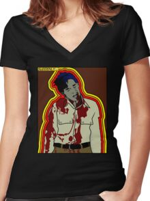 Technicolour Dawn Women's Fitted V-Neck T-Shirt