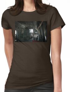 Old Helicopter Womens Fitted T-Shirt