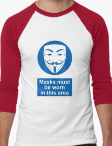 Health And Safety In An Alternate Future Totalitarian State Men's Baseball ¾ T-Shirt