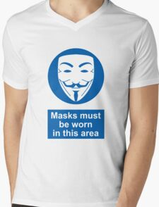 Health And Safety In An Alternate Future Totalitarian State Mens V-Neck T-Shirt