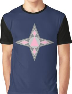 Star gray and pink Graphic T-Shirt